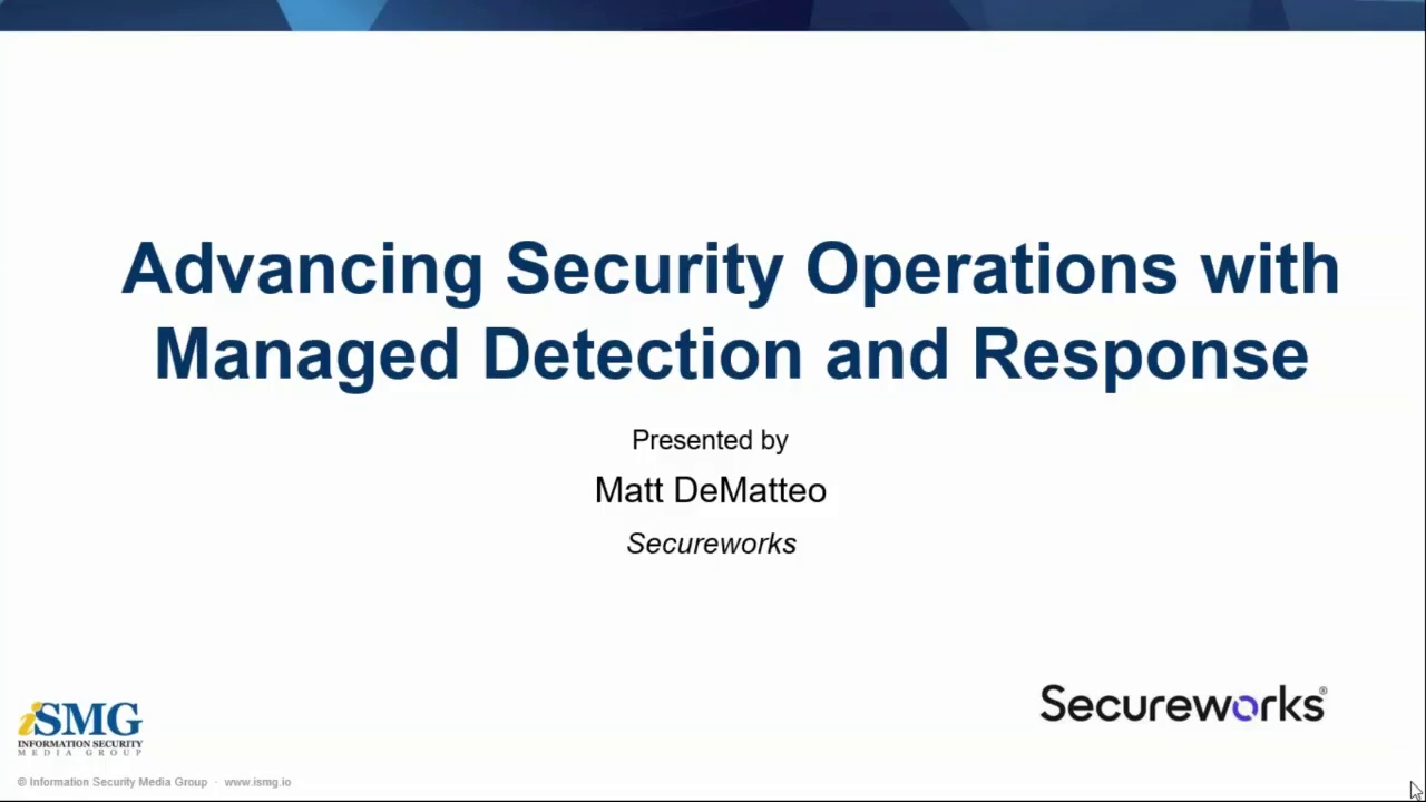 Advancing Security Operations With Managed Detection and Response