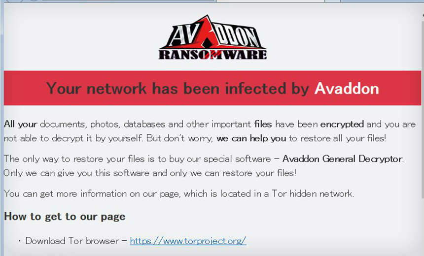 Avaddon Ransomware Joins Data-Leaking Club