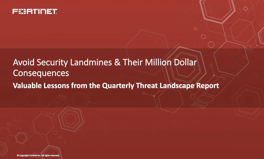 OnDemand Webinar: Avoid Security Landmines & Their Million Dollar Consequences