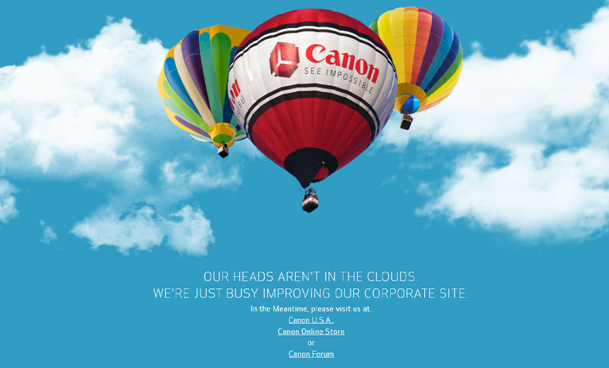 Canon USA Websites Offline Following Cyber Incident