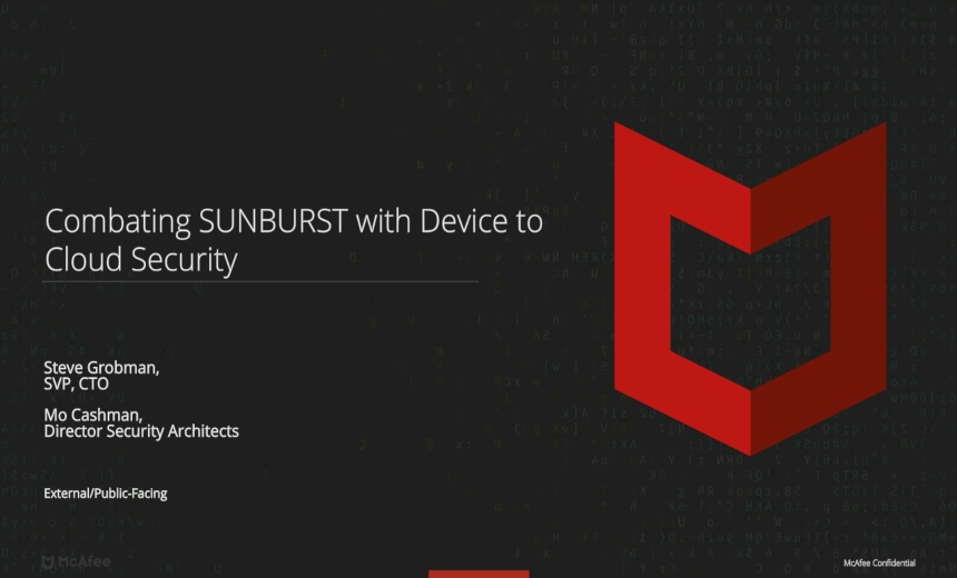 Combating SolarWinds Supply Chain and SUNBURST Backdoor - from Device to Cloud