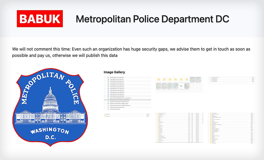 DC Metropolitan Police Hit With Cyberattack
