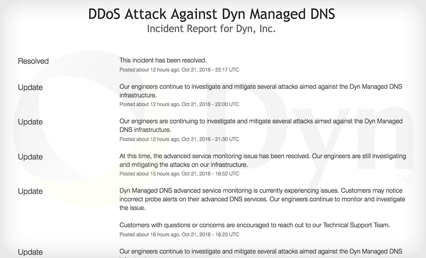 DDoS Attack Blamed for Massive Outages