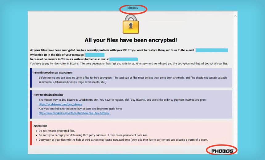 Dharma Gang Pushes Phobos Crypto-Locking Ransomware