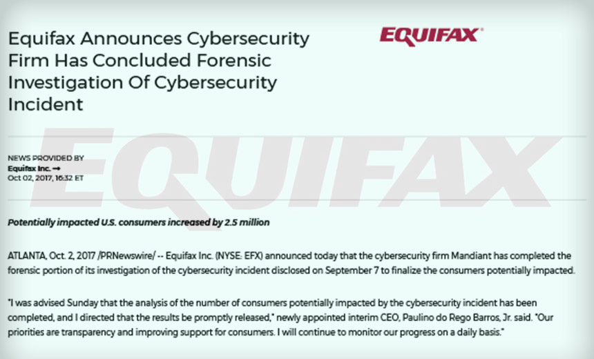 Equifax Breach Probe: 145.5 Million US Consumers Exposed