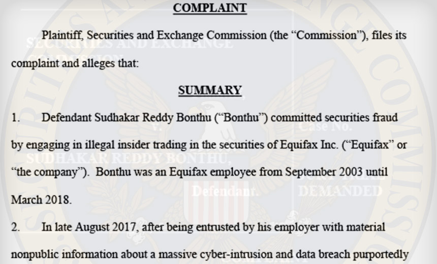Equifax Coder Settles Insider Trading Charges With SEC