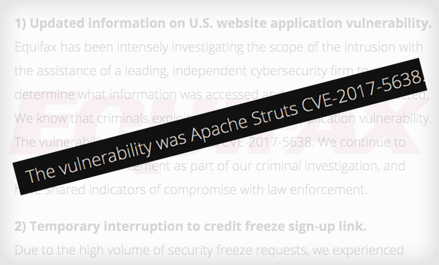 Equifax's Colossal Error: Not Patching Apache Struts Flaw