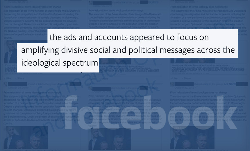 Facebook: Bogus Russia-Linked Accounts Bought Political Ads