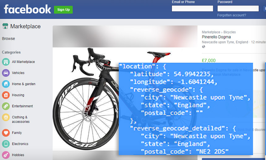Facebook Marketplace Flaw Revealed Seller's Exact Location