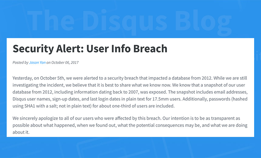 Following Disqus Breach, Expert Discloses More Old Breaches