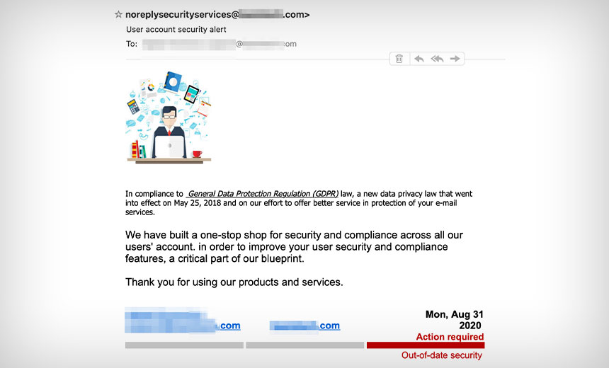 GDPR Compliance Used as Phishing Lure