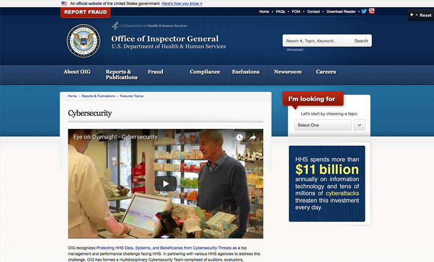HHS OIG Launches Cybersecurity Web Page