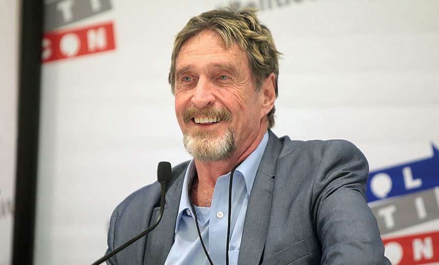 John McAfee Indicted on Federal Tax Evasion Charges