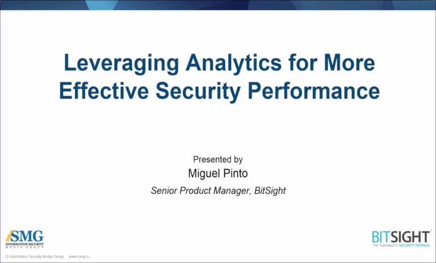 Leveraging Analytics for More Effective Security Performance Management