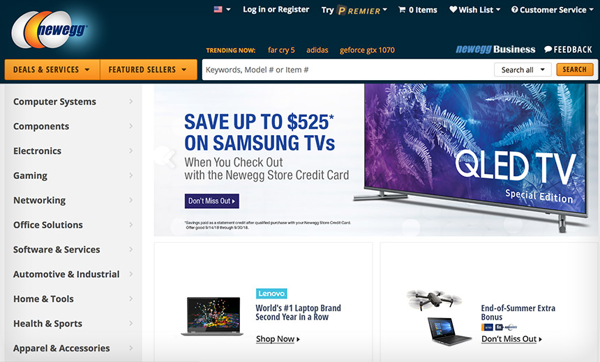 'Magecart' Card-Sniffing Gang Cracks Newegg