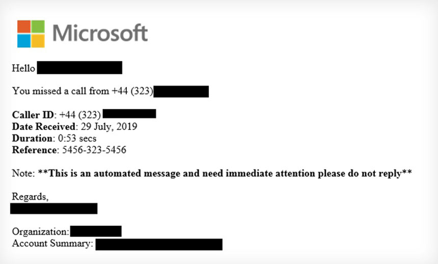 McAfee: Malicious Voicemails Target Office365 Users