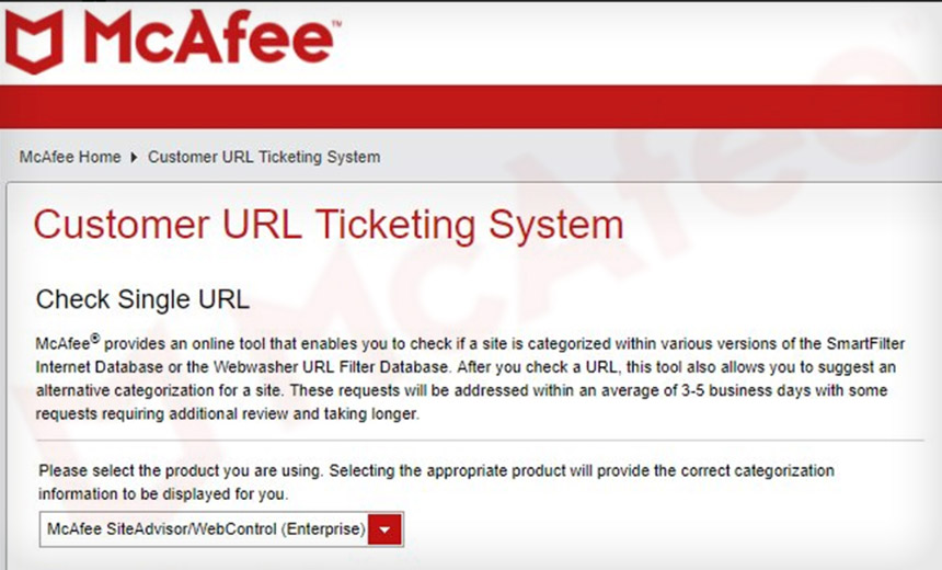 Researcher: McAfee URL Security Service Gave Pass to Trojan