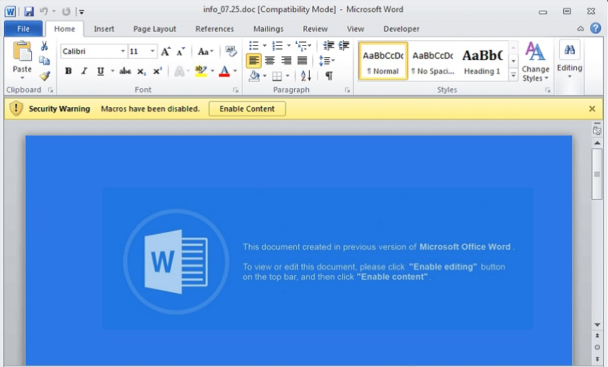 New Ursnif Variant Spreads Through Infected Word Documents