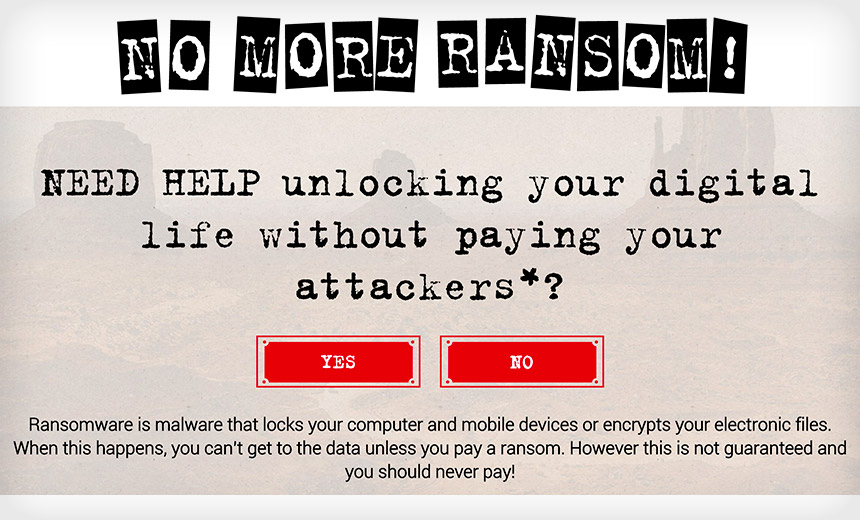 'No More Ransom' Portal Offers Respite From Ransomware