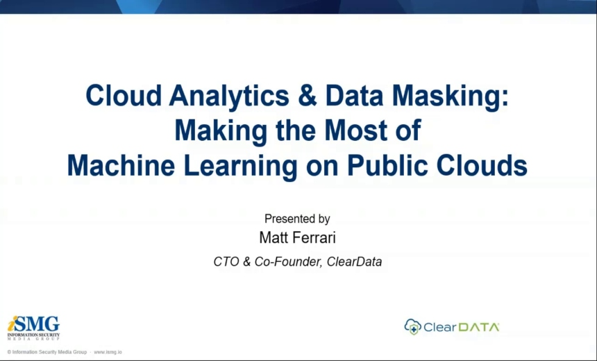 OnDemand Webinar: Cloud Analytics & Data Masking: Making the Most of Machine Learning on the Public Clouds