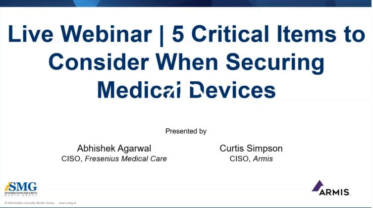 OnDemand Webinar | Healthcare CISO's Playbook: 5 Critical Items to Consider When Securing Devices