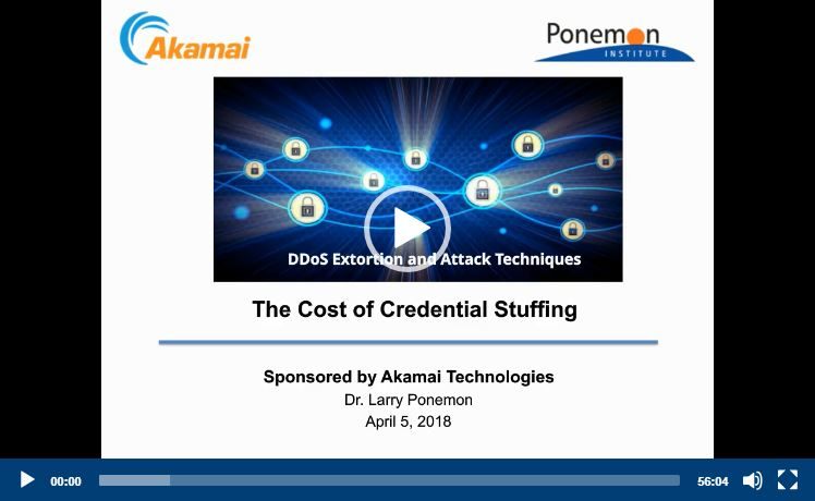 OnDemand Webinar | Ponemon Report: The Cost of Credential Stuffing