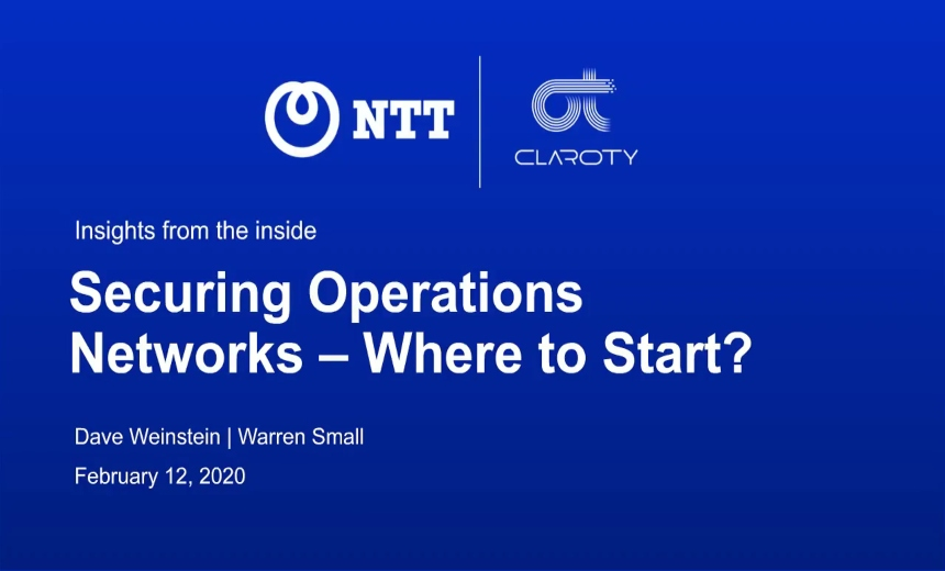 OnDemand Webinar | Securing Operations Networks - Where to Start?