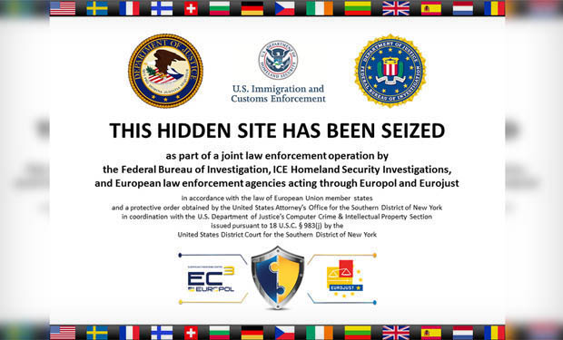 Authorities Seize 'Darknet' Drug Sites