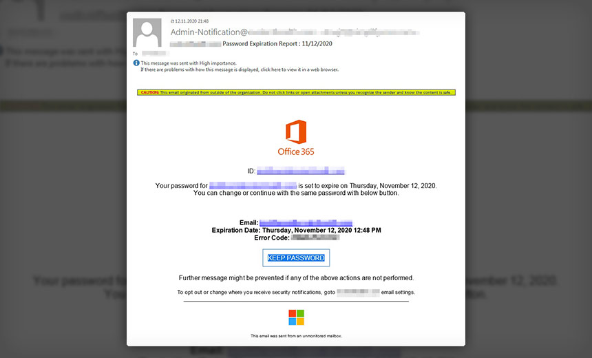 Phishing Campaign Features Fake Office 365 Update