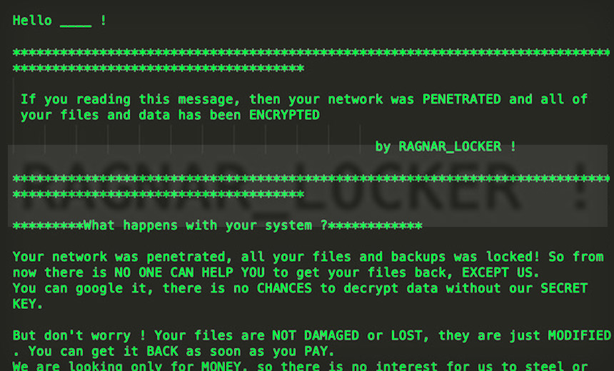 RagnarLocker Deploys a Virtual Machine to Hide Ransomware
