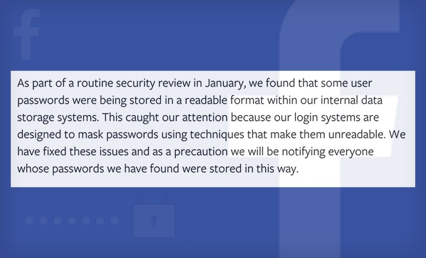 Report: Facebook Stored Millions of Passwords in Plaintext