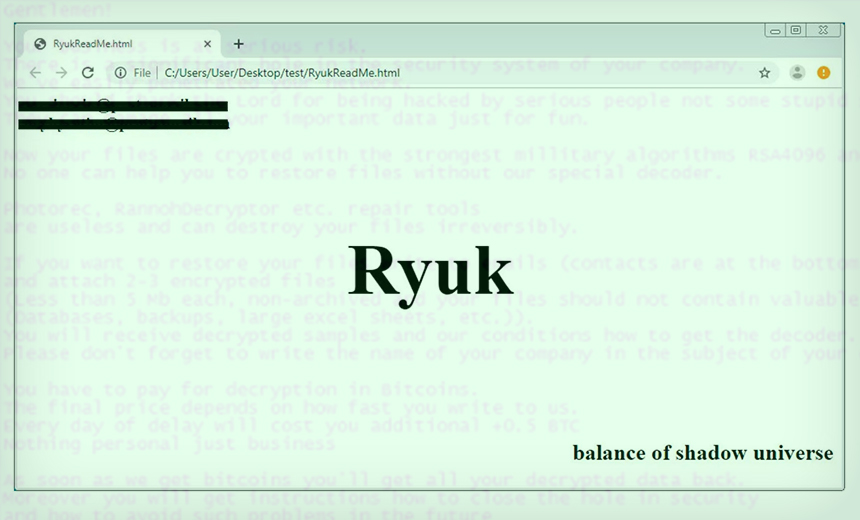 Ryuk Ransomware Updated With 'Worm-Like Capabilities'
