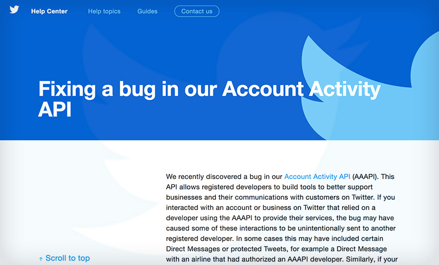 Twitter Bug Sent Direct Messages to External Developers