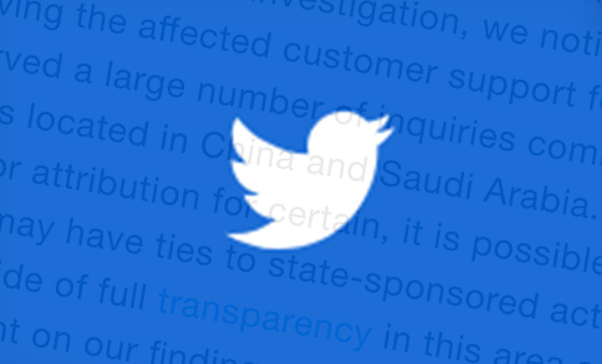 Twitter Sees Signs of State-Sponsored Attack